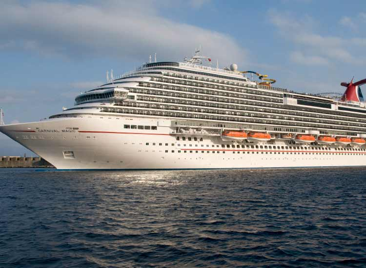 Carnival Magic sails to Nassau and the Bahamas once a month. // © 2014 Carnival Cruise Lines
