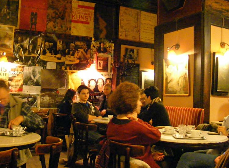 Visitors can experience a slice of Vienna's coffeehouse culture at Cafe Hawelka, a shop that opened in 1936 and was traditionally a hangout for local artists such as singer-songwriter Georg Danzer and writer Hans Wiegel. // © 2014 Creative Commons user Gruenemann