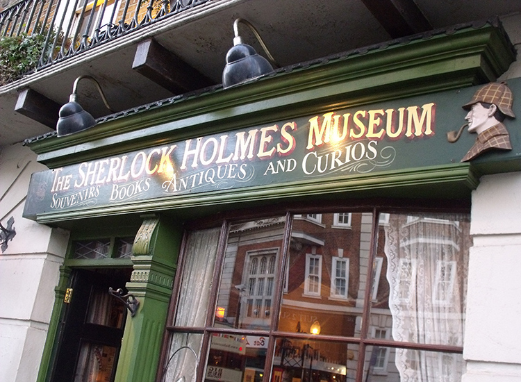 Whether you're a fan of the new BBC series or a devotee of the stories, the Sherlock Holmes Museum at London's most famous address has plenty to geek out about. // © 2014 Creative Commons user ell-r-brown
