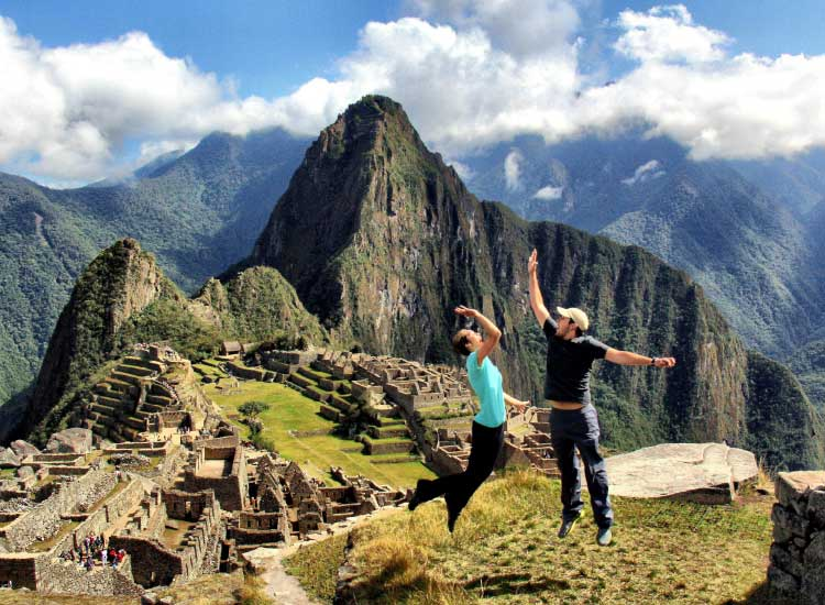 High five in Machu Picchu, , Honorable Mention, 2012 TravelAge West reader photo contest // © 2012 Andrew Browning