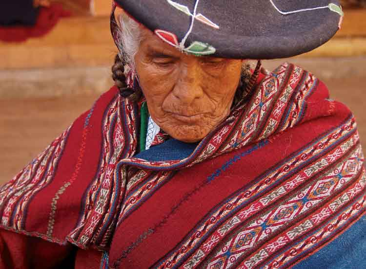 The weaver, a woman from Chinchero, Peru; First Place, 2012 TravelAge West reader photo contest // © 2012 Nathan DePetris