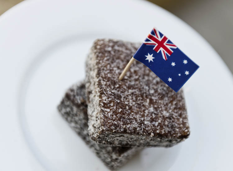 Sold during fundraisers in Australia, lamingtons also have their own national holiday on July 21. // © 2014 Thinkstock