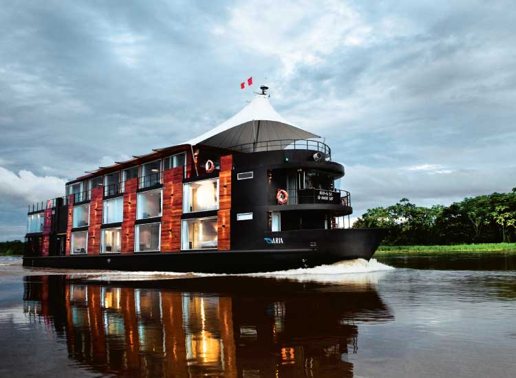 The Avalon Aria is a luxury river cruise vessel that sails the northern Amazon River. // (c) 2014 Avalon Waterways