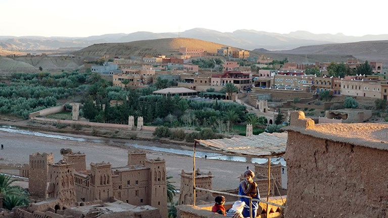 "Travelers on Intrepid Travel's 10-day South Morocco Discovery trip visit stunning destinations such as Ait Benhaddou, which has been dubbed ""Moroccan Hollywood."" // © 2018 Valerie Chen"