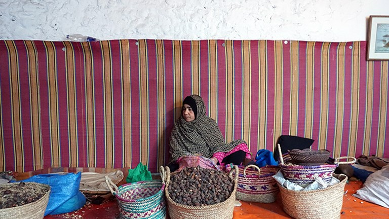 Moroccan women offer insight into the process of making argan oil.  // © 2018 Valerie Chen