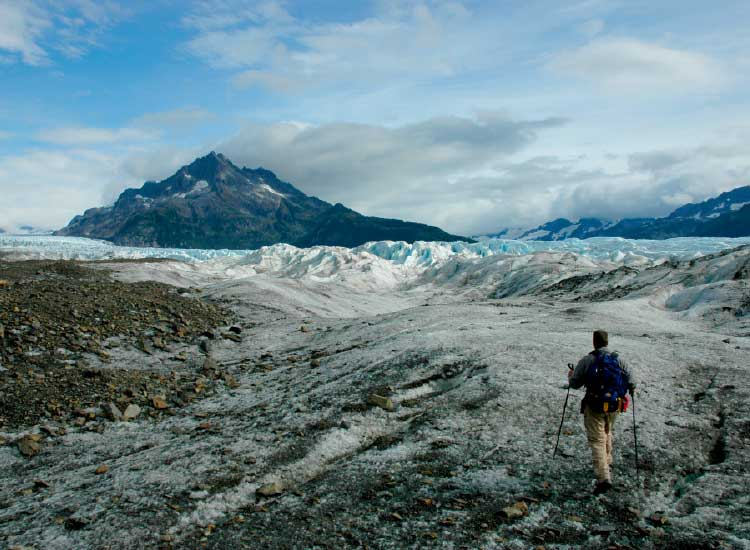 A glacier-hiking excursion can be combined with wildlife viewing.// © 2014 Christopher Batin