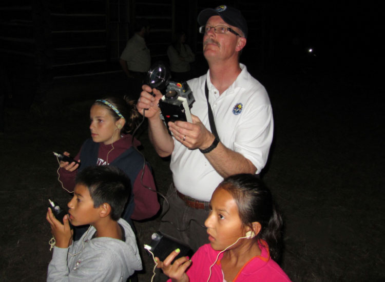 """Bats Among Us"" is a program offered both at Cowboy Lake NWR in Washington and McKay Creek NWR in Oregon. // © 2014 Sue McDonald/USFWS"