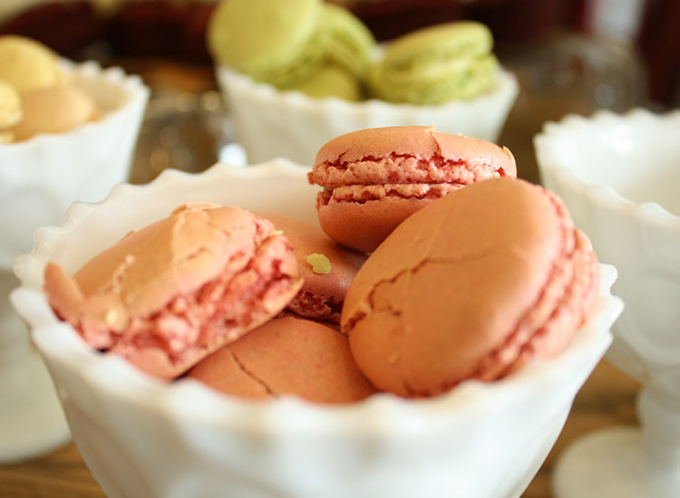 22 Square's breakfast buffet includes an array of dishes, including classically prepared macarons. // © 2014 Nila Do Simon