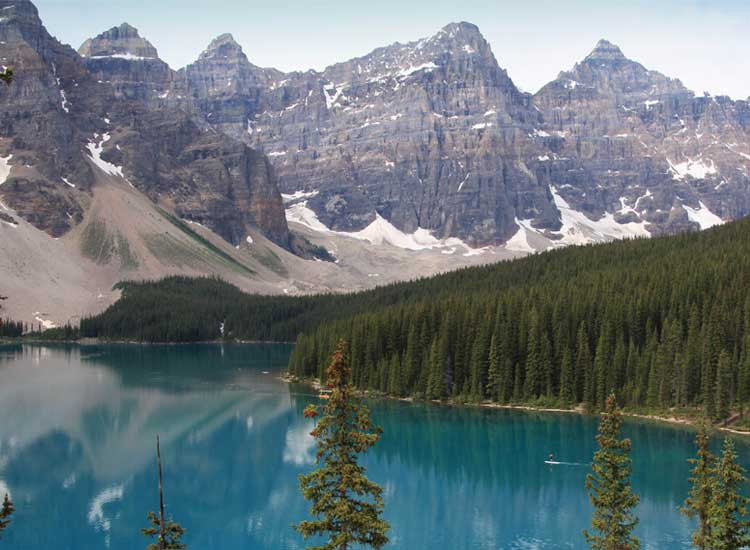 Moraine Lake is one of the many beautiful attractions located in Banff National Park in Alberta, Canada. // © 2014 Tanya Koob