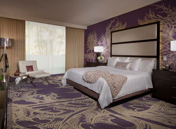 All guestrooms feature music-themed decor and Sleep Like a Rock brand beds. // © 2013 George Guttenberg