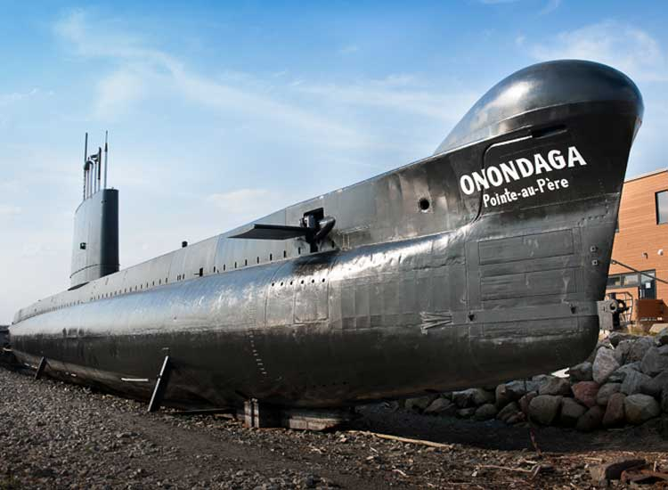 The submarine Onondaga at Pointe-au-Pere is open for tours and sleepovers. // (c) 2013 Mark Edward Harris