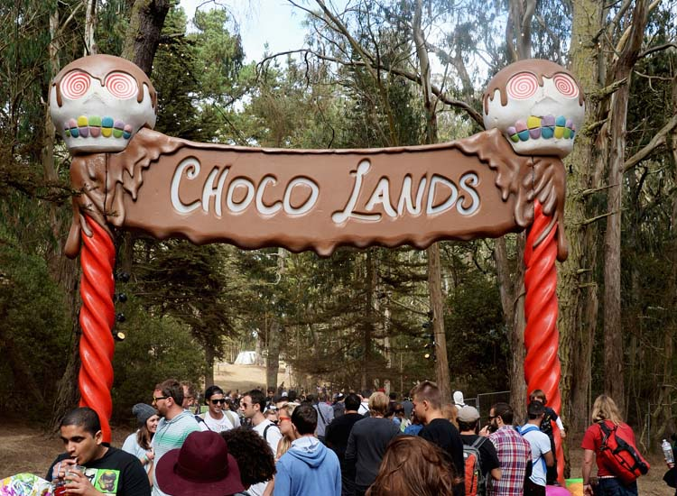 In addition to Beer Lands and Wine Lands, Choco Lands lured festival-goers with sweet treats in a tucked away part of the park. // (c) 2013 Jeff Kravitz/FilmMagic