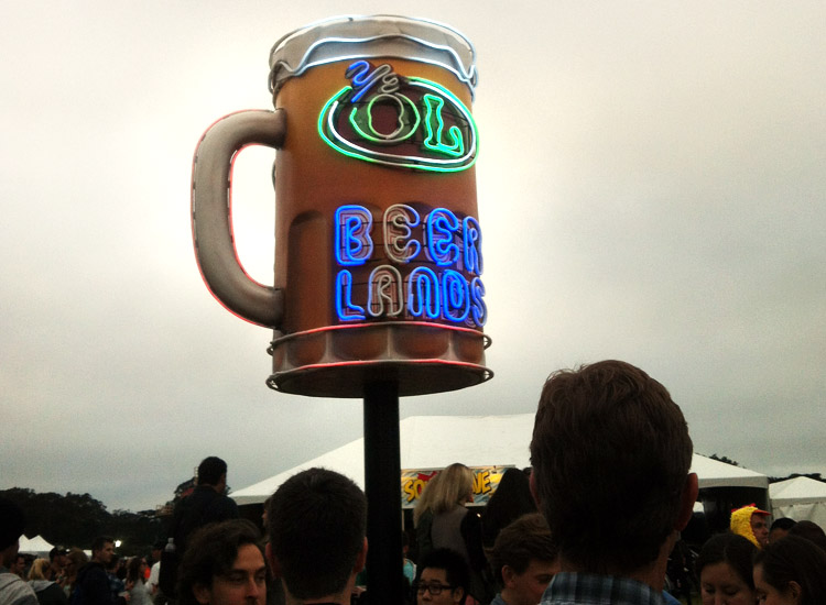 Fortunately craft beers retrieved at Beer Lands can be taken anywhere on festival grounds. // (c) 2013 Mindy Poder